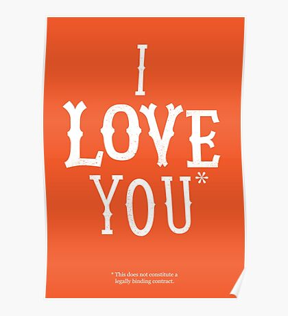 I Love You* Poster