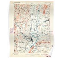 Massachusetts  USGS Historical Topo Map MA Northampton 352904 1895 62500 Poster