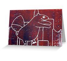 Squirrelzilla Greeting Card