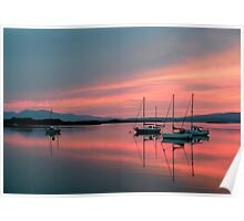 Evening at Loch Etive with view to the Isle of Mull Poster