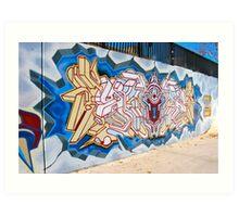 Skate Park mural Art Print