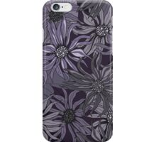 purple floral iPhone Case/Skin