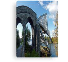 Connel Bridge slightly distorted Canvas Print