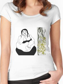Obese Woman Women's Fitted Scoop T-Shirt