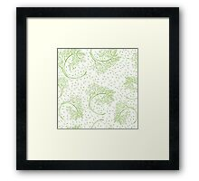 Green dill hand drawn illustration  Framed Print