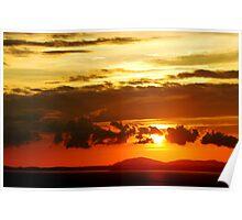 Sunset on Halech Beach Poster