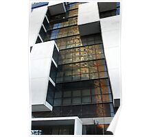 Reflected Tower Block in Barca Poster