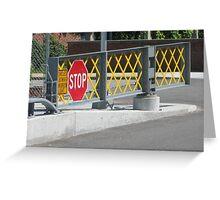 Woods Hole Bridge Gate Greeting Card