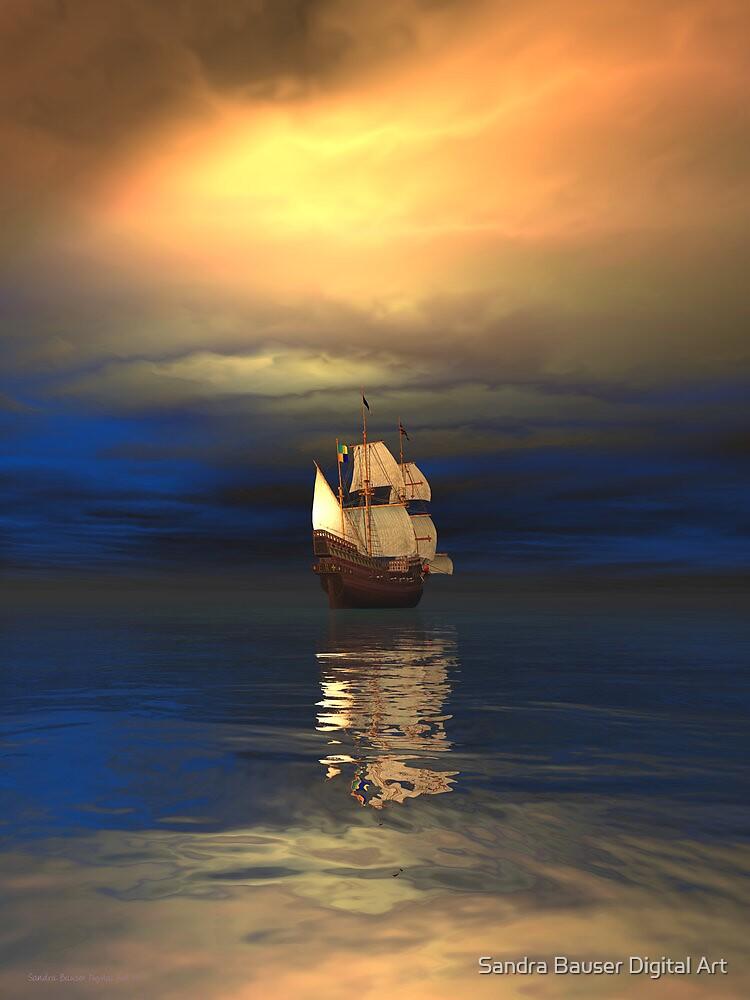 The Deep Blue Sea by Sandra Bauser Digital Art
