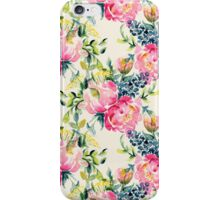 Watercolor peonies bouquet pattern iPhone Case/Skin