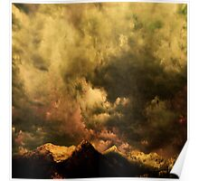 Cascades - Washington with clouds courtesy of Rinaldo Di Battista Poster