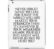Game of Thrones - Tyrion Quote iPad Case/Skin