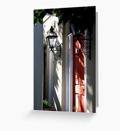 In Down Town Charleston Greeting Card