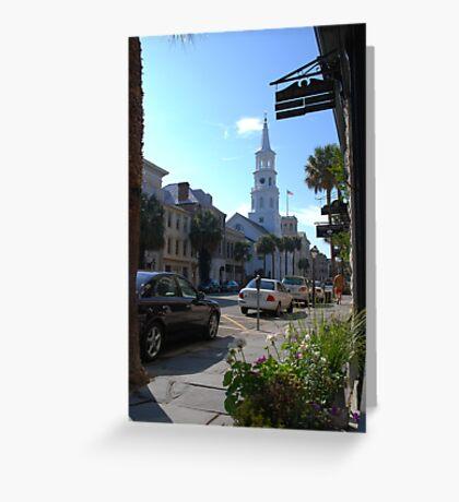 St. Michaels Church on Broad Street in Charleston Greeting Card