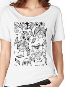 Four different black owls Women's Relaxed Fit T-Shirt