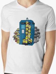 Behind You Doc Minion Mens V-Neck T-Shirt
