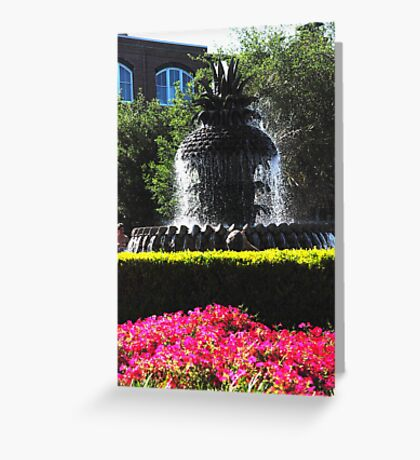 Pineapple Fountain in Charlestons Waterfront Park Greeting Card