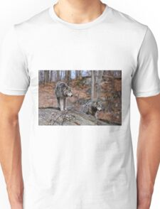Timber Wolves on Rocks T-Shirt