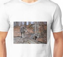 Timber Wolves on Rocks Unisex T-Shirt