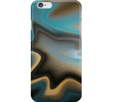 Teal and Orange Abstract iPhone Case/Skin