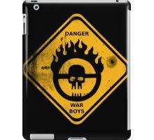 WAR BOYS DANGER ROAD SIGN - BULLET EDITION iPad Case/Skin