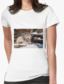Timber Wolf Womens Fitted T-Shirt