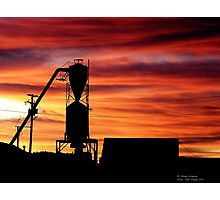 Farm Sunset Photographic Print