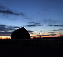 Sunset Barn by Alexis  Reber