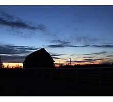 Sunset Barn Photographic Print