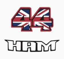 44 Brit flag HAM  Baby Tee