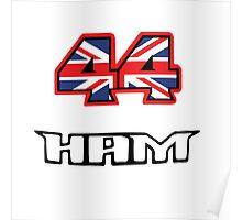 44 Brit flag HAM  Poster