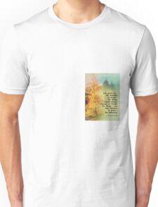 Serenity Prayer Autumn Trees on Green Unisex T-Shirt