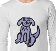 Purple Dog Long Sleeve T-Shirt