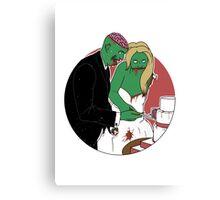 Zombie Wedding Canvas Print