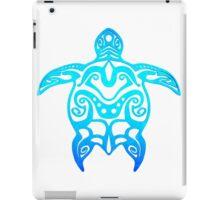 Ocean Blue Tribal Turtle iPad Case/Skin