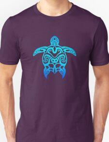 Ocean Blue Tribal Turtle T-Shirt