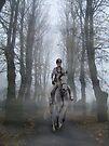 Lone horsewoman by Brian Edworthy