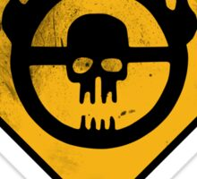 WAR BOYS ROAD SIGN - BULLET EDITION Sticker