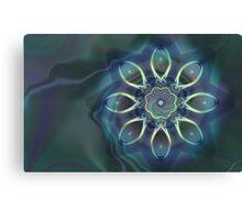 Blue Tone Fractal Canvas Print