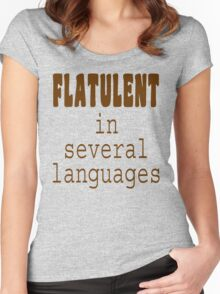 Flatulent In Several Languages Women's Fitted Scoop T-Shirt