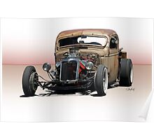 Rat Rod Pickup 'Hemified' Poster