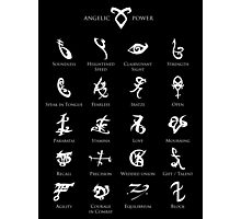 Runes map Photographic Print