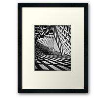 Black and White Library Framed Print