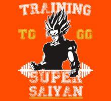 TRAINING TO GO SUPER SAIYAN (WHITE EDITION) Kids Clothes