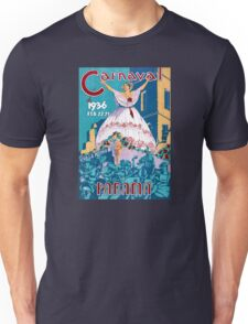 Panama Carnival Vintage Travel Poster Restored Unisex T-Shirt