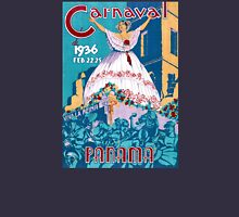 Panama Carnival Vintage Travel Poster Restored Womens Fitted T-Shirt