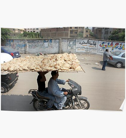 Bread delivery Egyptian style Poster