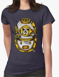 Diving Helmet Womens Fitted T-Shirt