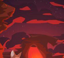 Mystical Space Coyote Sticker