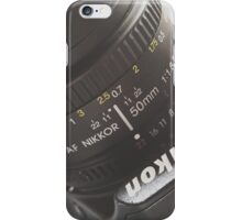 Nikon 50mm iPhone Case/Skin
